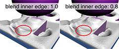 Setting 'blend inner edges'