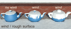 Setting 'wind / rough surface'