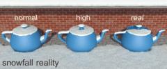Setting 'snowfall reality'