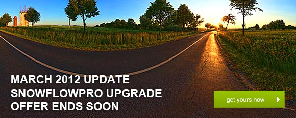 March 2012 Update: SnowFlowPro Upgrade Offer Ends Soon – get yours now!